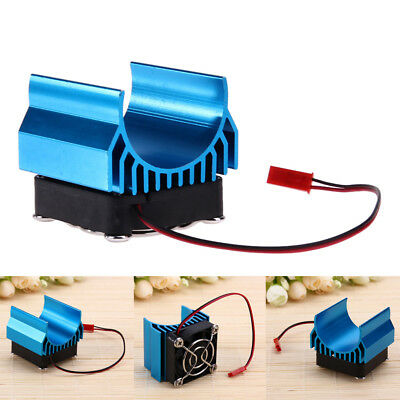 Aluminium Motor Heat Sink With Fan Cooling Head for 1/10 RC Car 540/550/3650