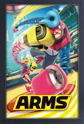 ARMS NINTENDO SWITCH 13x19 FRAMED GELCOAT POSTER VIDEO GAMES FUN SPRING MAN COOL