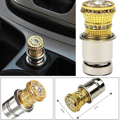 12V Crystal Cigarette Lighter Rhinestone Bling Charger Decor Accessory For Car
