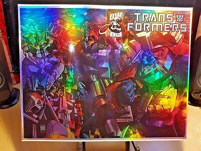 TRANSFORMERS G1 #1 HOLOFOIL COVER Unbinded to Comic Book! SUPER RARE! Dreamwave