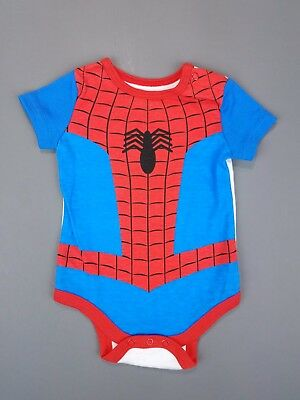 Spider-man Marvel Kids Infant Baby 0-3 M Spider-Suit One piece Outfit NEWw/oTags