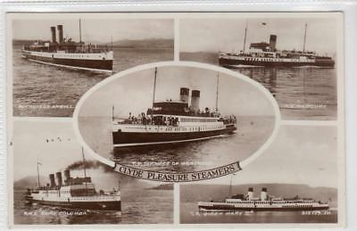 CLYDE PLEASURE STEAMERS: Shipping multiview postcard (C31667)