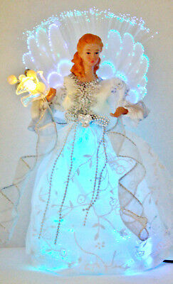 -Angel w/ Peace Dove LED-Colors White/Silver Christmas TreeTop or Table Top NEW