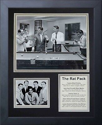 Legends Never Die The Rat Pack Pool Framed Photo Collage, 11x14-Inch