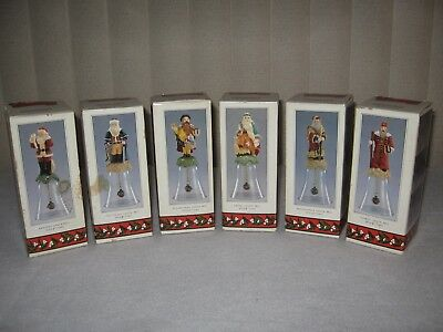 Novelino - Set of (6) Santa Claus Christmas Bells  - Different Countries (1992)