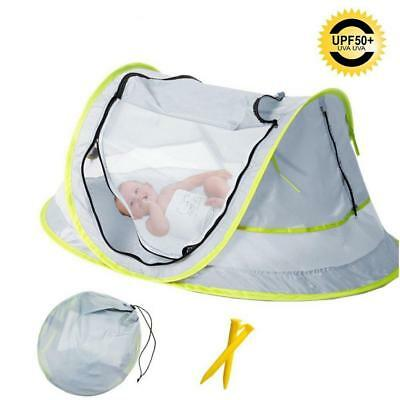 Baby Beach Tent, Portable Travel Bed UPF 50+ Sun Shelters for Infant , Pop...