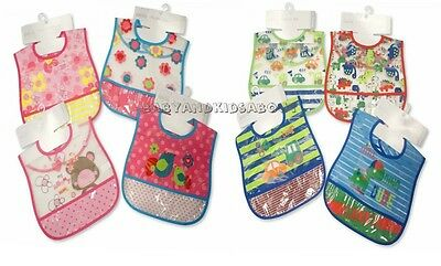 Baby Toddler Waterproof Bibs Crumb Catcher - Boys, girls,  Peva wipe clean bibs
