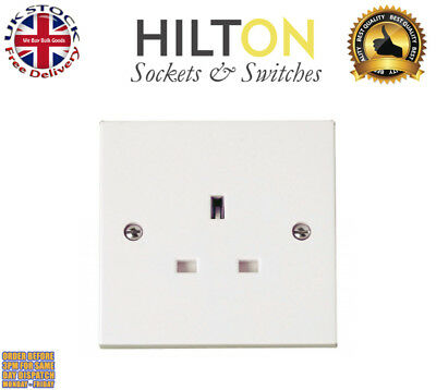 HILTON 1Gang UnSwitched Socket White Plastic 13Amp ***Best Quality***