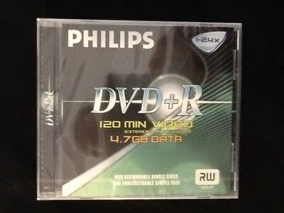 Four Philips Dvd+R Rw 4.7 Gb Discs