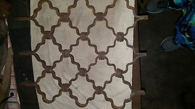 Antique Forged Iron Window Guard Grate Cover Architectural Gothic 18th Century