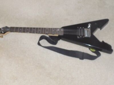 Black First Act Discovery Mini Flying V Arrow Electric Guitar Me 276
