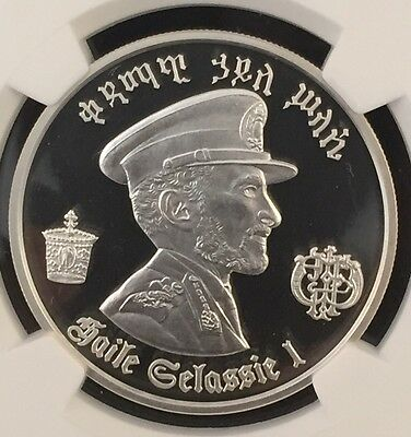 1972 Hf Ethiopia Silver $5 Haile Selassie I Ngc Proof Pf 69 Ultra Cameo Pop.39