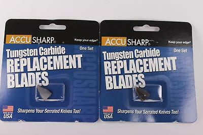 TWO Sets of SPARE BLADES Accusharp Sharpener Kitchen Camping Hunting Tool New