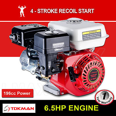 6.5HP Petrol Engine OHV Stationary Motor 4 Stroke Horizontal 20mm Shaft Recoil