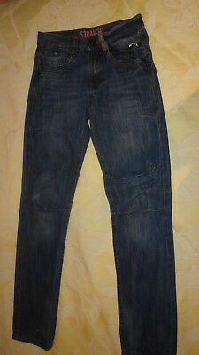 "Boys ""REBEL"" Straight Leg Jeans. Age 9 - 10 Years 140 CM"