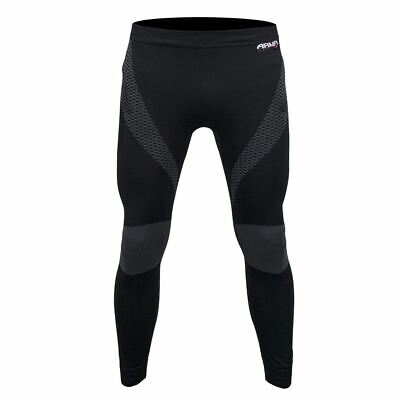 ARMR Moto Thermal Motorcycle Base Layer Motorbike Under Trousers Sports Black