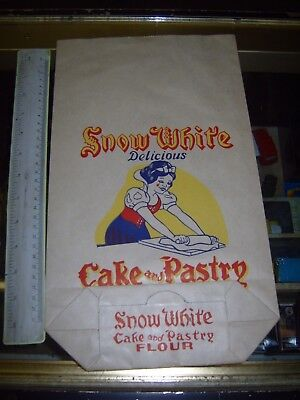 Disney Snow White.vintage Cake And Pastry Flour Bag.very Collectable