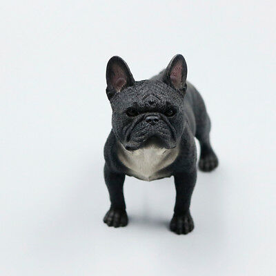 Resin MINI Stand French Bulldog Hand Painted simulation model statue BLACK