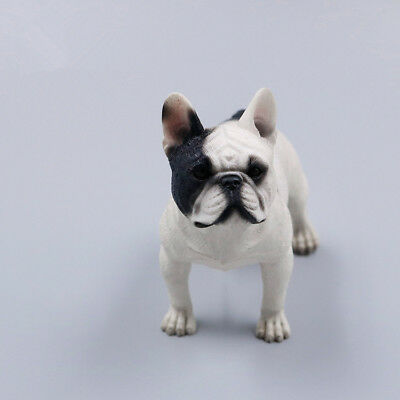 Resin MINI Stand French Bulldog Hand Painted simulation model statue WHITE