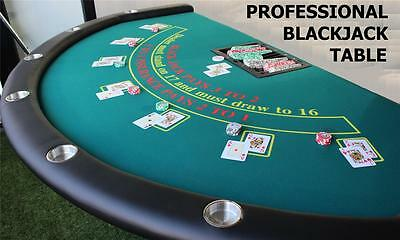 Professional Semi-circle BLACKJACK TABLE seats 7 players, DEALER SPOT +CHIP TRAY