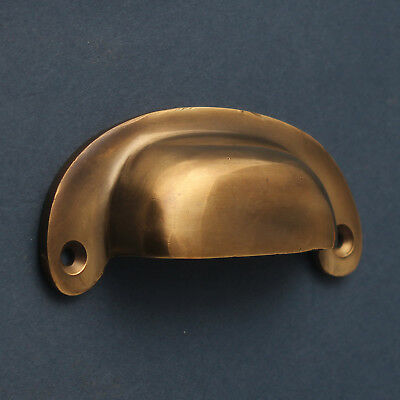 Antique Aged Brass Cabinet Cup Pull Handles Door Cupboard Kitchen Classic Style