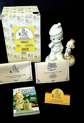 Precious Moments Limited Edition Somebody Cares Porcelain Figurine 1997 522325