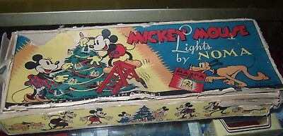 Disney. Noma Mickey Mouse Disneylights.early American Set.very Collectable
