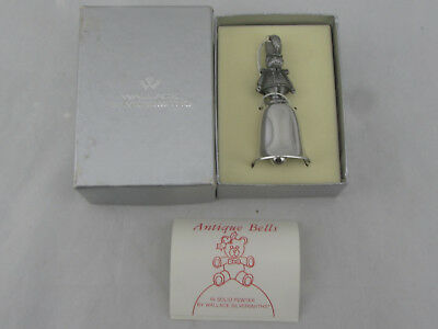 NIB - Wallace Silversmiths Pewter Christmas Bell Ornament Wooden Soldier