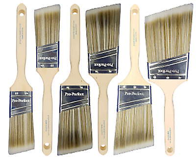"6pk PRO PERFECT PAINT BRUSH 1.5"",2"",2.5"",3"" ANGLE SASH"