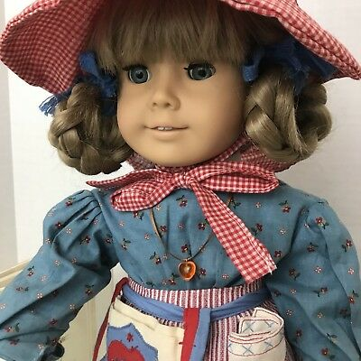 AMERICAN GIRL Pleasant Company Kirsten Doll 1986 White Body Meet Outfit Box