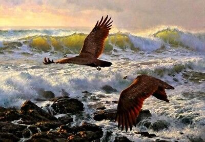 Aceo Birds In Flight Fine Art Print From Original Oil Painting