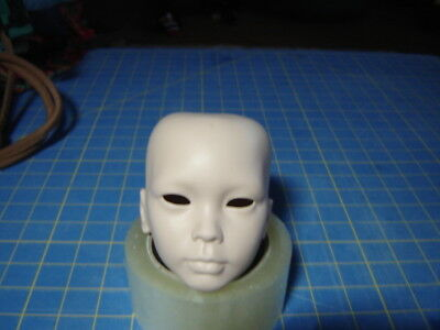 Porcelain Doll parts: beautiful Jade II head, open eyes, flesh