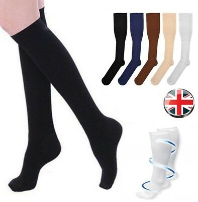 Flight Travel Socks Unisex Compression Anti Swelling DVT Support Men Women Gifts