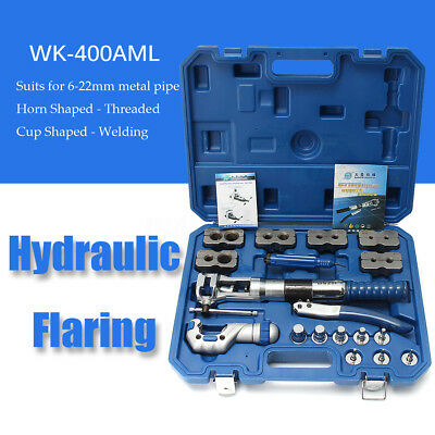 WK-400 Hydraulic Pipe Expander Set Brake Pipe Fuel Line Flaring Tools KIt