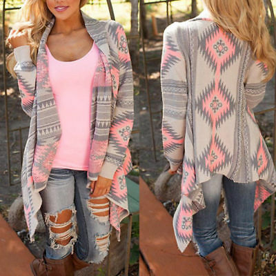 Fashion Women Sweater Long Sleeve Knitted Cardigan Outwear Jackets Clothing
