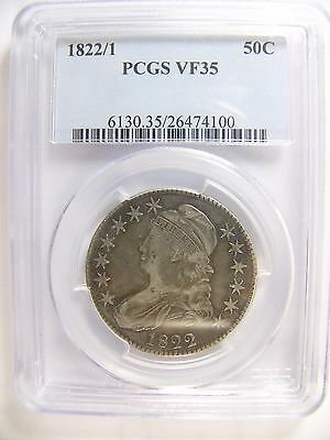 1822/1 Capped Bust Half Dollar PCGS VF 35 Cert# 26474100 REDUCED
