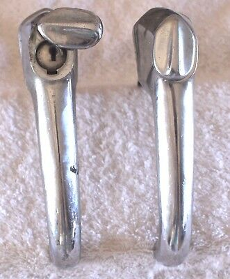 Vintage Lot of TWO GM Door Handles w Spring Lock Covers & One Lock cylinder