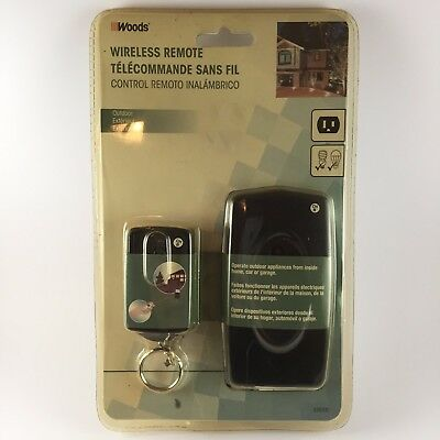 Weatherproof Outdoor Outlet Wireless Remote Control Socket Power Switch Plug Kit