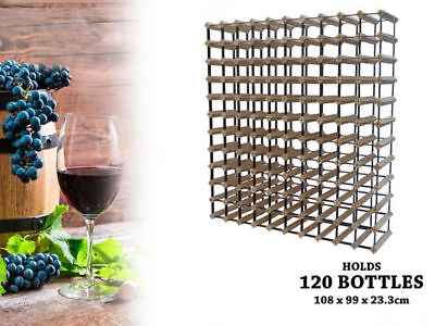 1 wooden wine rack holds 120 bottles natural wood colour