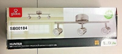 Globe Electric Hunter Collection 3 Light Brushed Nickel Track Lighting 20 Watt