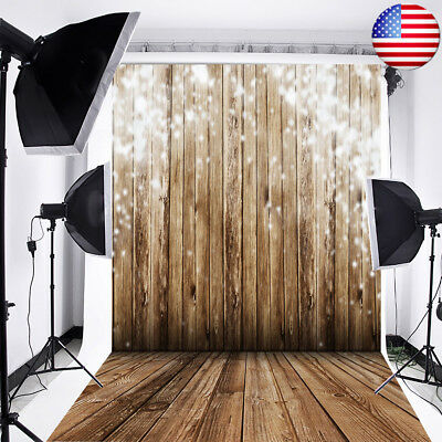 Romantic Wooden Wall Floor Dreamy Photography Backdrop Background Studio Props