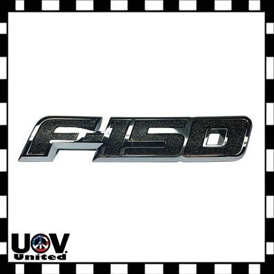 For 2009 - 2014 Ford F150 F-150 Chrome BLK Trunk Rear Tailgate Emblem Nameplate