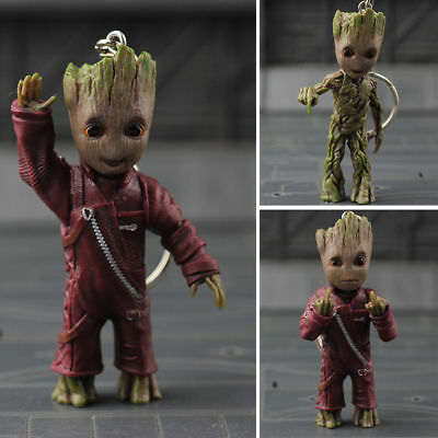 "Guardians of the Galaxy Vol.2 Baby Groot 3"" Key Chain Figure Statue Gift Toy New"