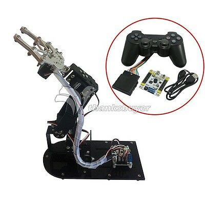 4 DOF Robot Metal Mechanical Arm Kits & PS2 Handle & 4pcs MG996R & control board