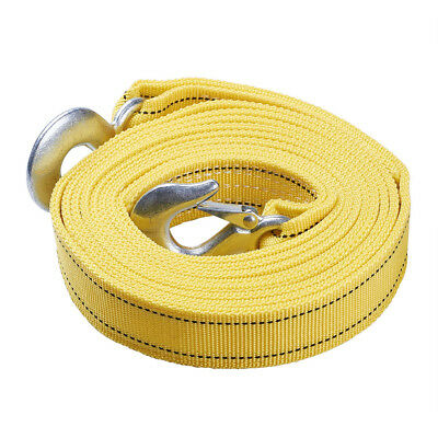 6Ton 5M Tow Strap Towing Cable Pull Rope with Hook Heavy Duty Car Road Recovery