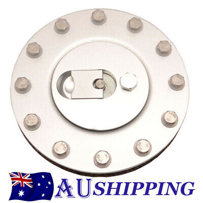 Aluminum Billet Fuel Cell/Fuel Surge Tank Cap Flush Mount 12 Bolt Cap Open 57mm
