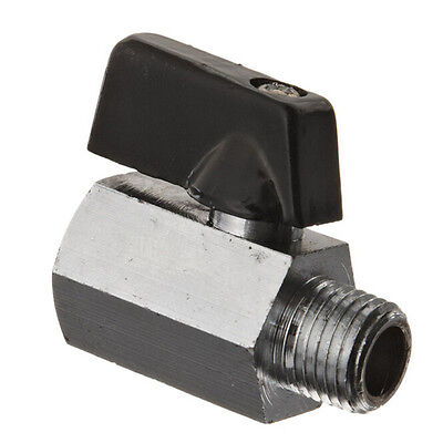 "Hot Corrosive Resistance 1/4"" Mini Brass Ball Valve - Chrome Plated HighQuality!"