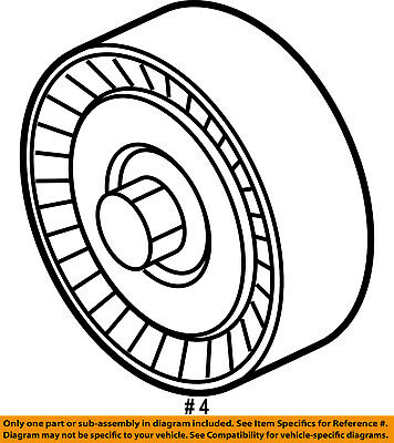Ford Oem Serpentine Drive Belt Idler Pulley Ft4z8678a