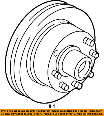 New Genuine Oem Ford F5uz 1102 A Front Disc Brake Rotor