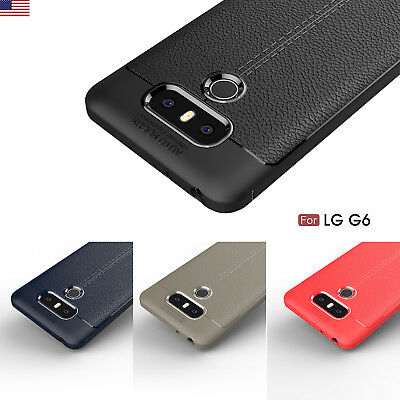 For LG V30 Q6 G6 Luxury Shockproof Matte Thin TPU Soft Back Case Cover